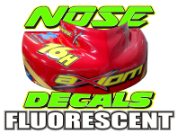 NOSE DECALS FLUORESCENT